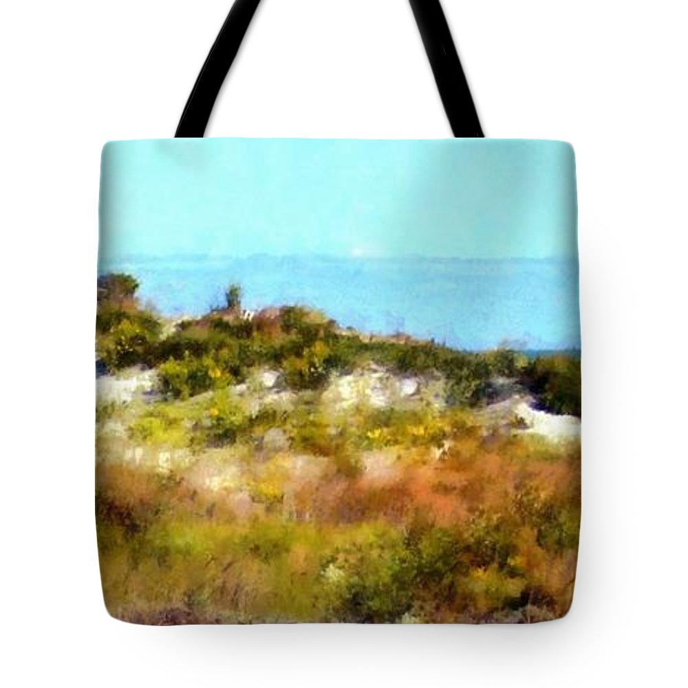 Sand Dunes Tote Bag featuring the photograph Sand Dunes Assateague Island by Janine Riley