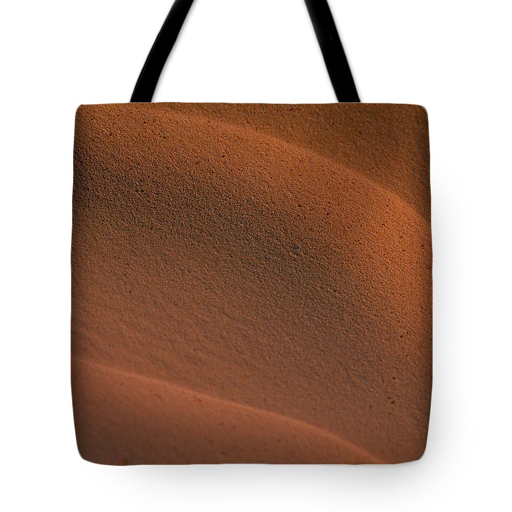 Sahara Tote Bag featuring the photograph Sand In Sahara by Michael Mogensen
