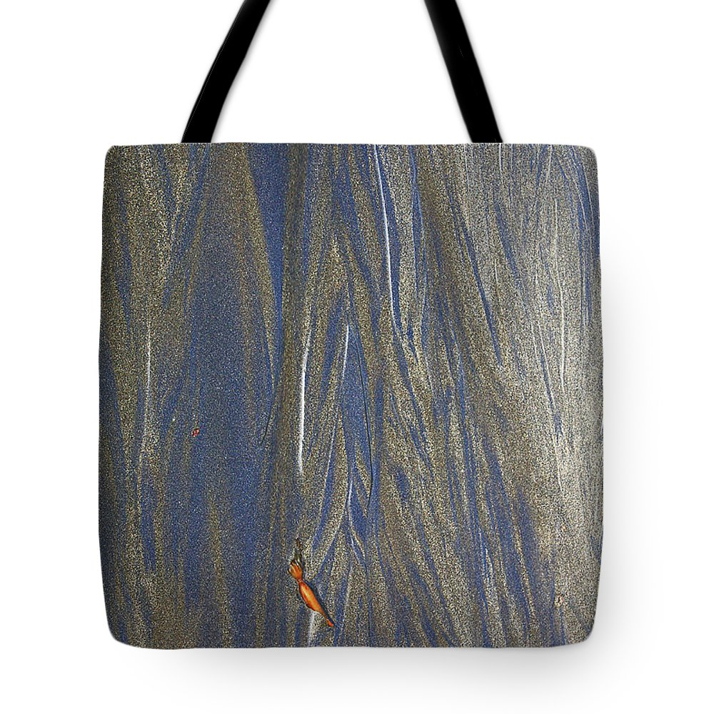 Sand Tote Bag featuring the photograph Sand Patterns At Moeraki by Nareeta Martin