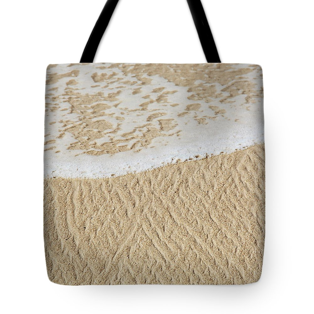 Sand Tote Bag featuring the photograph Sand Patterns by Kerri Ligatich
