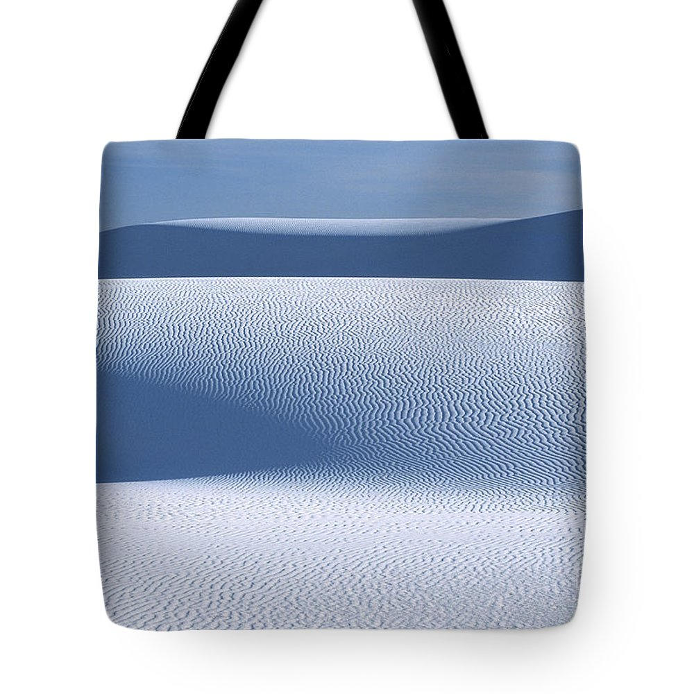White Sands Tote Bag featuring the photograph Sand Patterns by Sandra Bronstein