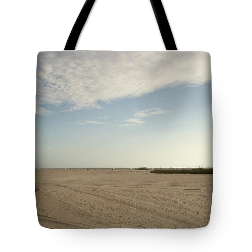 Nature Tote Bag featuring the photograph Sand Storm At St. Pete Beach by Gail Kent