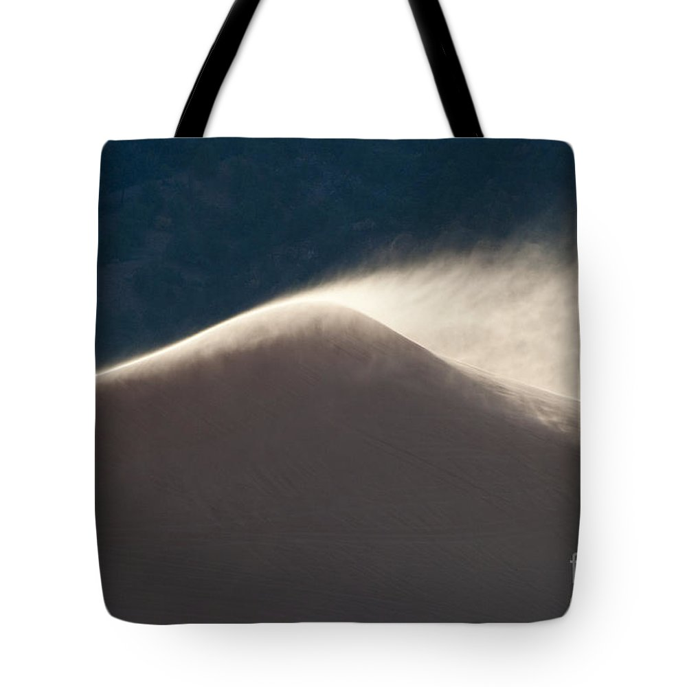 Sand Dunes Tote Bag featuring the photograph Sand Storm by Sandra Bronstein