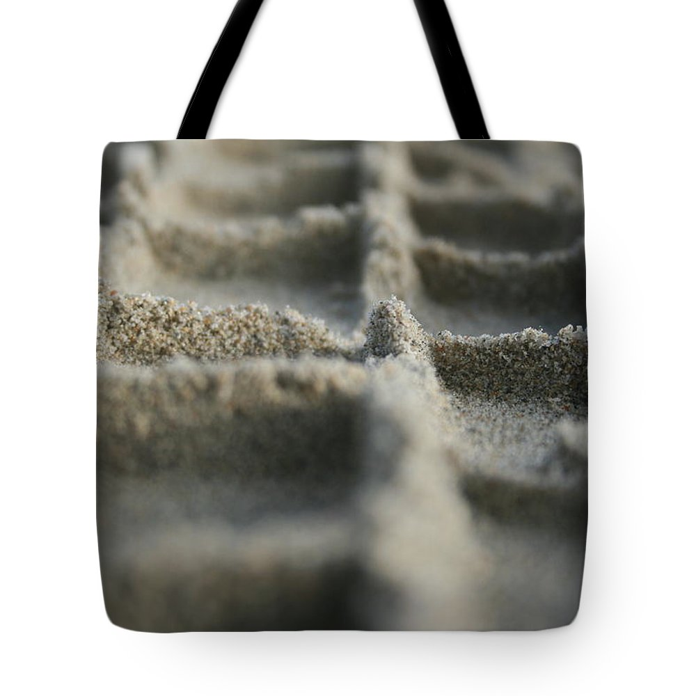 Sand Tote Bag featuring the photograph Sand Tracks by Martine Vail