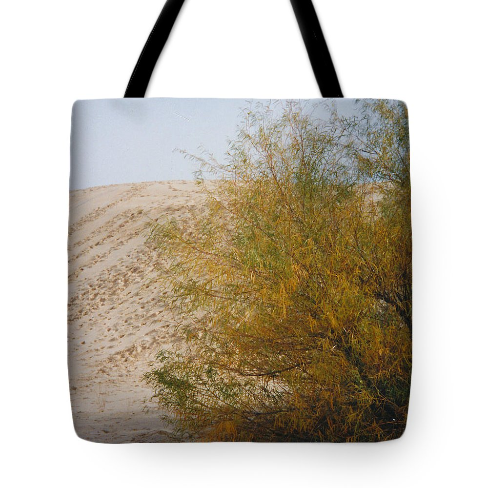 Sands Monohans Bush Trees Footprints Tote Bag featuring the photograph Sands Of Monahans - 2 by Cindy New