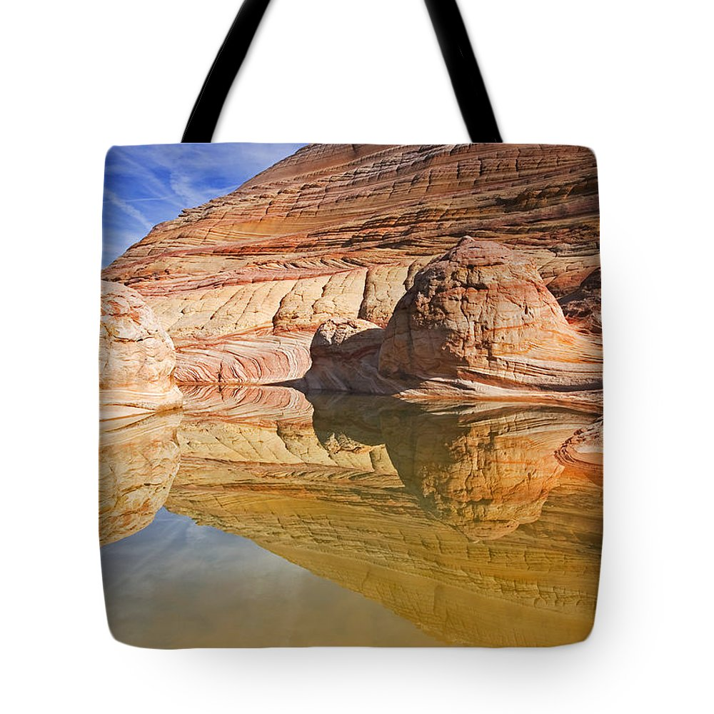 Pool Tote Bag featuring the photograph Sandstone Illusions by Mike Dawson