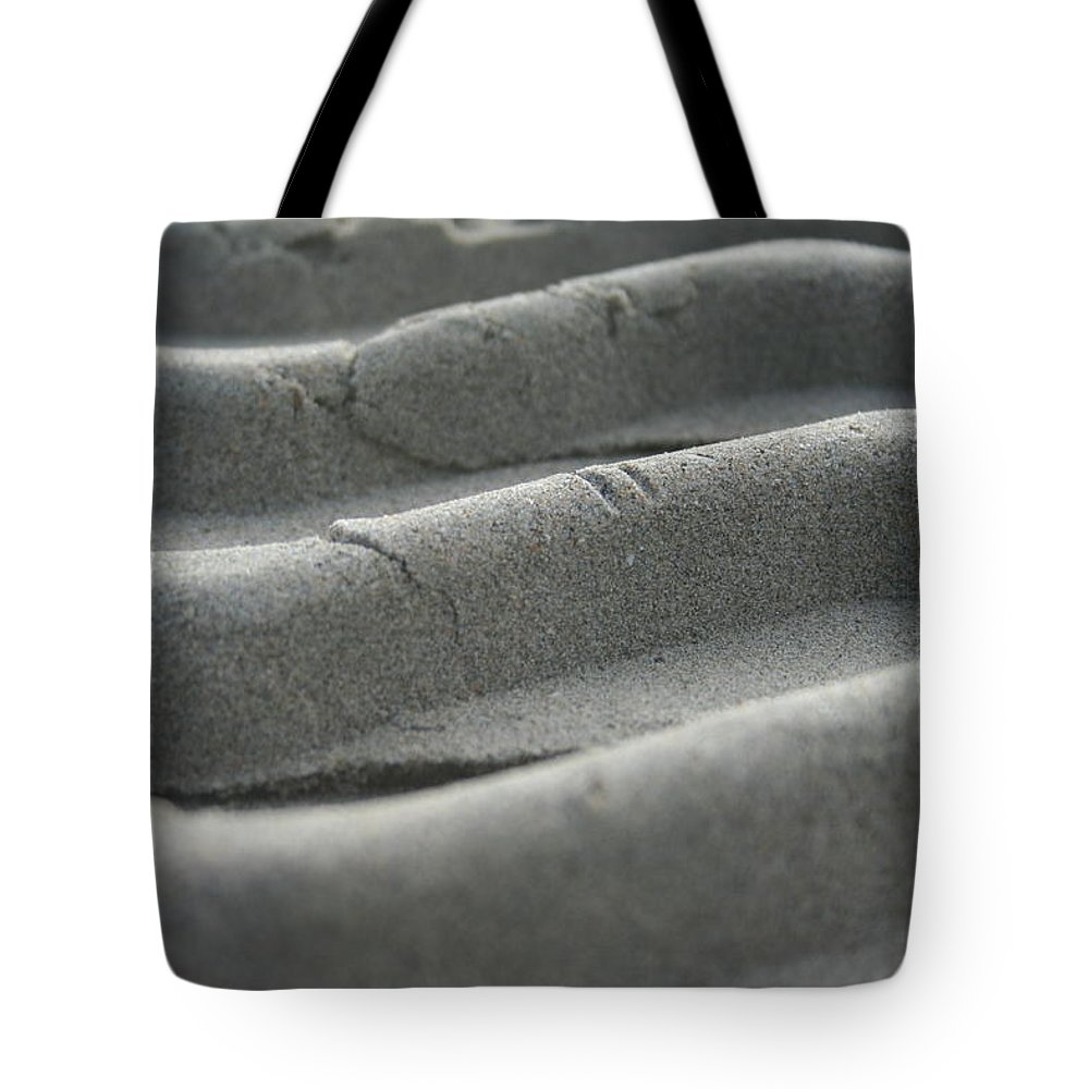 Sand Tote Bag featuring the photograph Sandtracks2 by Martine Vail