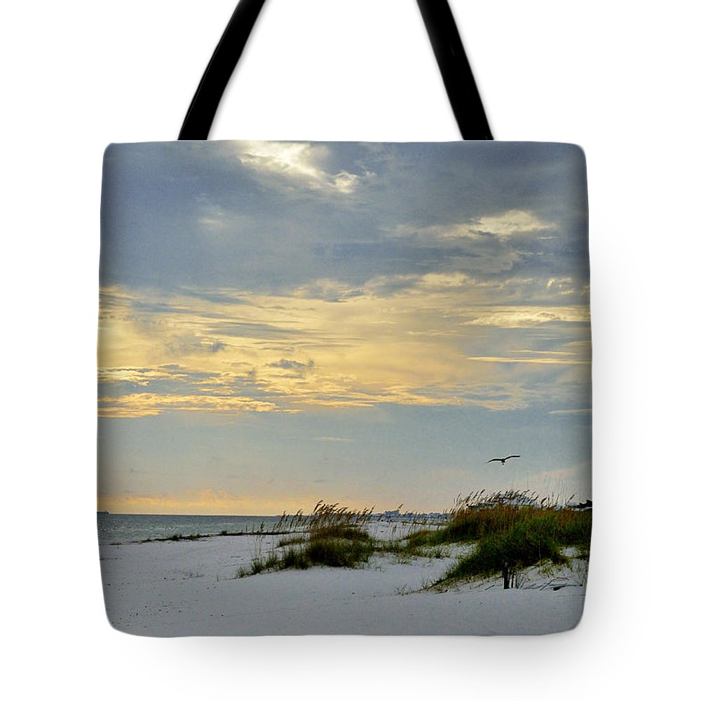 Ocean Tote Bag featuring the photograph Sandy Alabama Beach by Glenda Ward