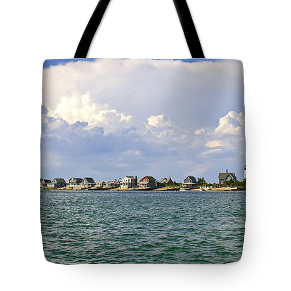 Sandy Neck Tote Bag featuring the photograph Sandy Neck Cottage Colony by Charles Harden