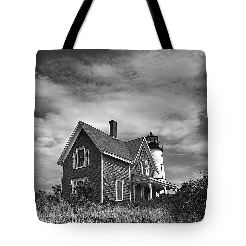 Sandy Neck Tote Bag featuring the photograph Sandy Neck Light by Charles Harden