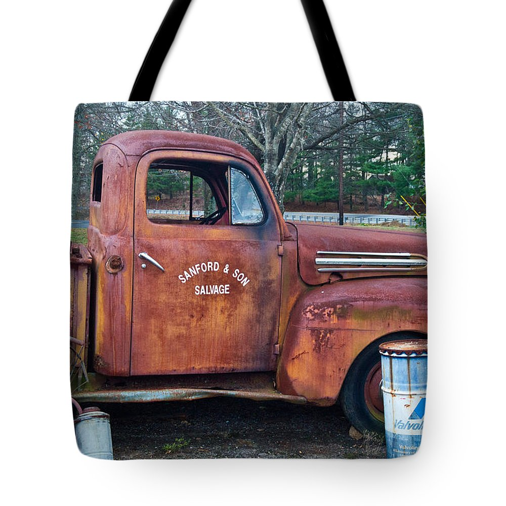 Tote Bag featuring the photograph Sanford And Son Salvage 1 by Douglas Barnett
