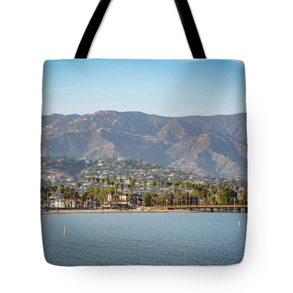 California Tote Bag featuring the photograph Santa Barbara Coastline From The Water by Jaime Lind