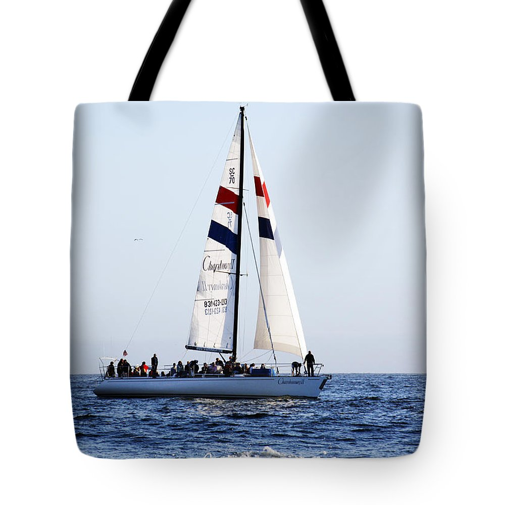 Santa Cruz Tote Bag featuring the photograph Santa Cruz Sailing by Marilyn Hunt