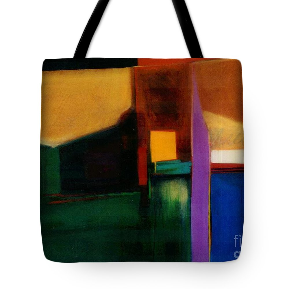Abstract Tote Bag featuring the painting Santa Fe 1 Break Loose by Marlene Burns