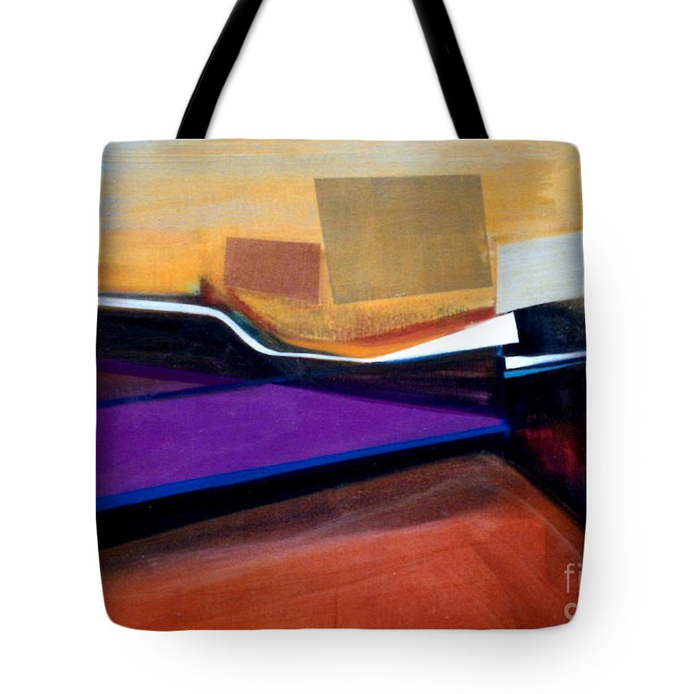 Abstract Tote Bag featuring the painting Santa Fe 2 Let Loose by Marlene Burns