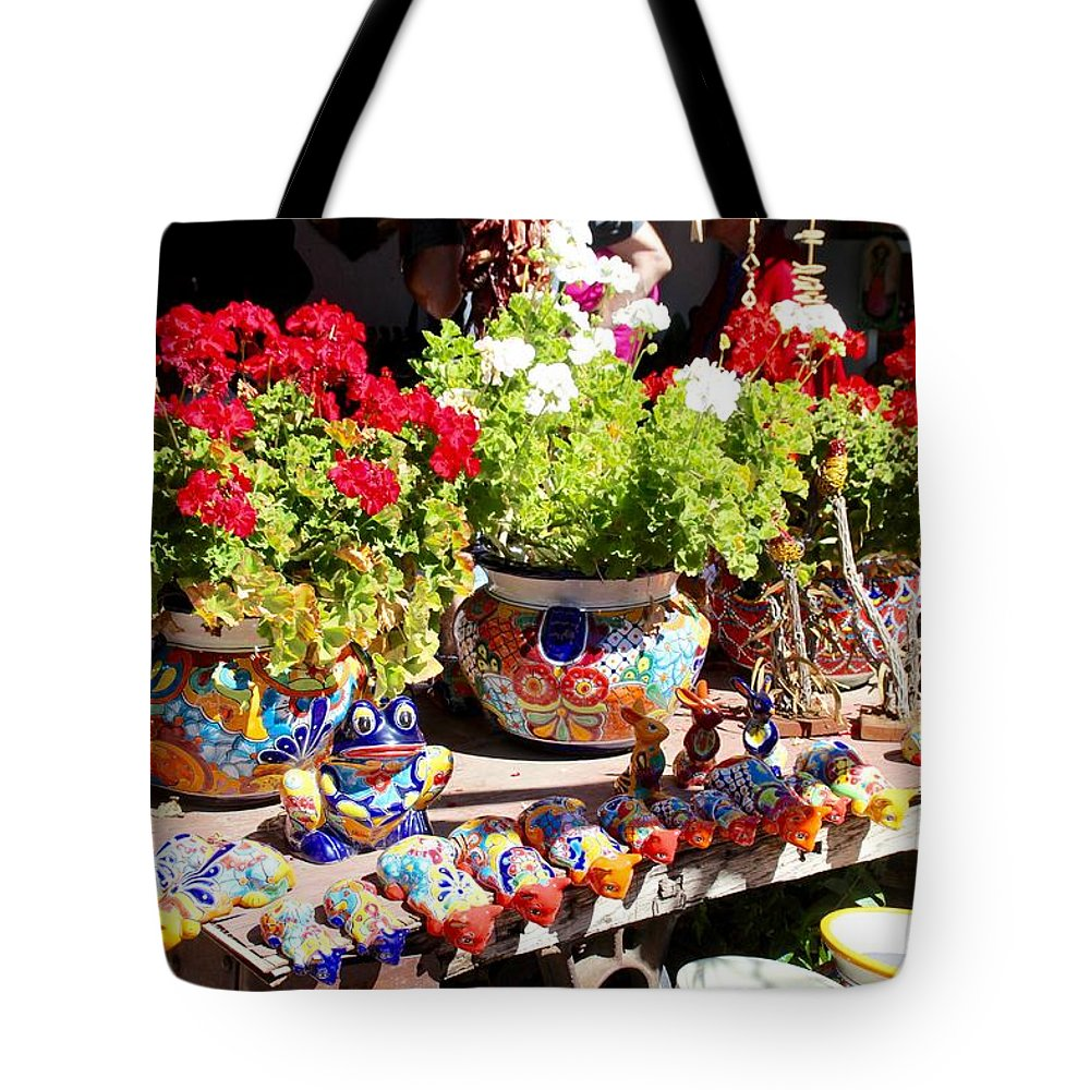 Flowers Tote Bag featuring the photograph Santa Fe Color by Cordelia Ford