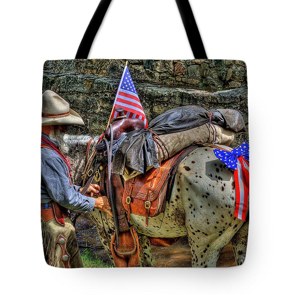 Santa Fe Cowboy Tote Bag featuring the photograph Santa Fe Cowboy by David Patterson
