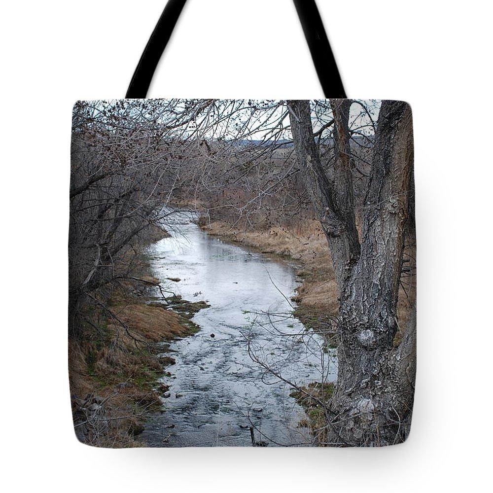 Santa Fe Tote Bag featuring the photograph Santa Fe River by Rob Hans