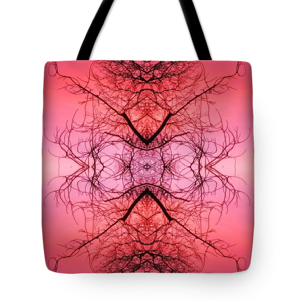 Abstract Tote Bag featuring the photograph Santa Fe Sunrise by Rick Frausto
