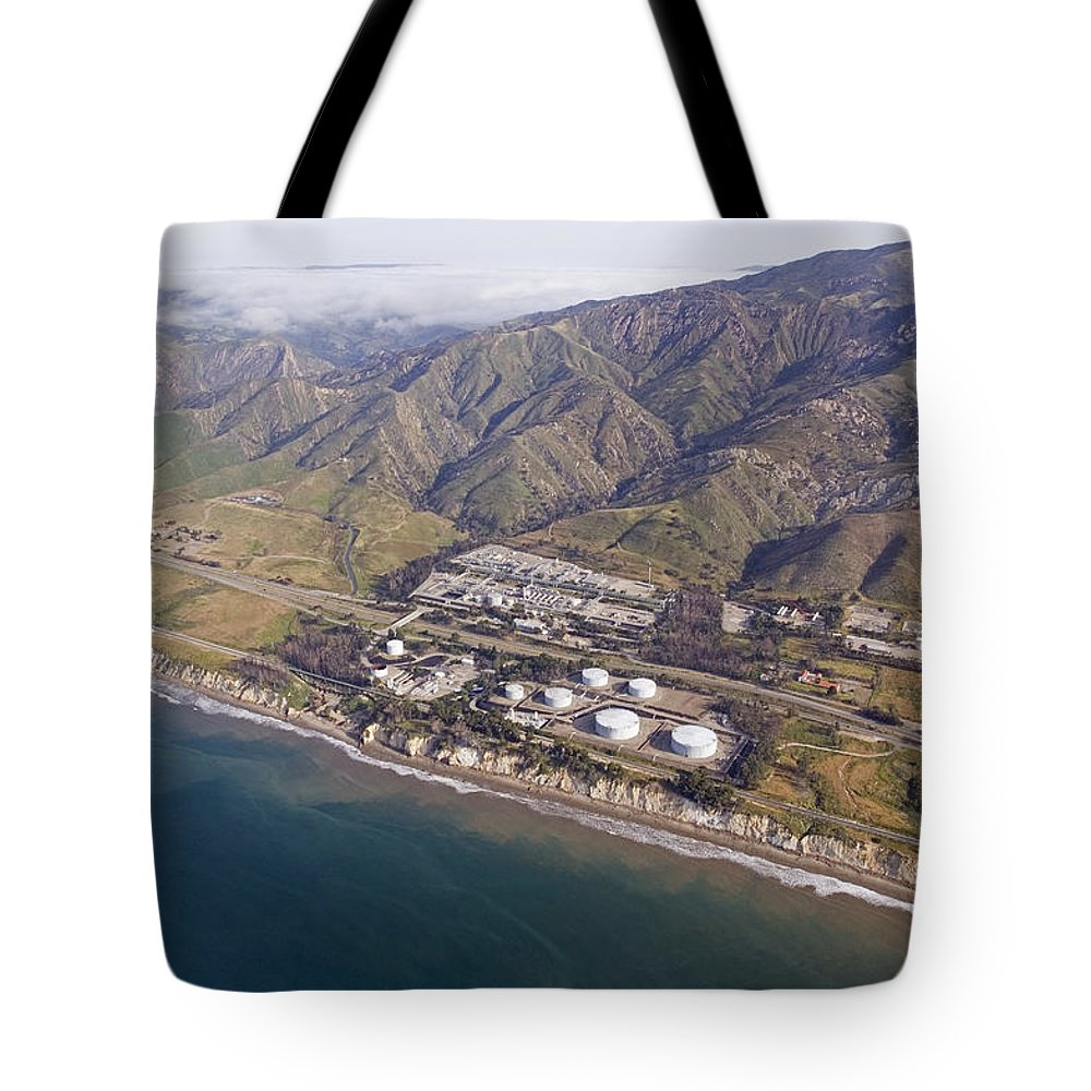 Aerial Views Tote Bag featuring the photograph Santa Ynez Mountains And The Gaviota by Rich Reid