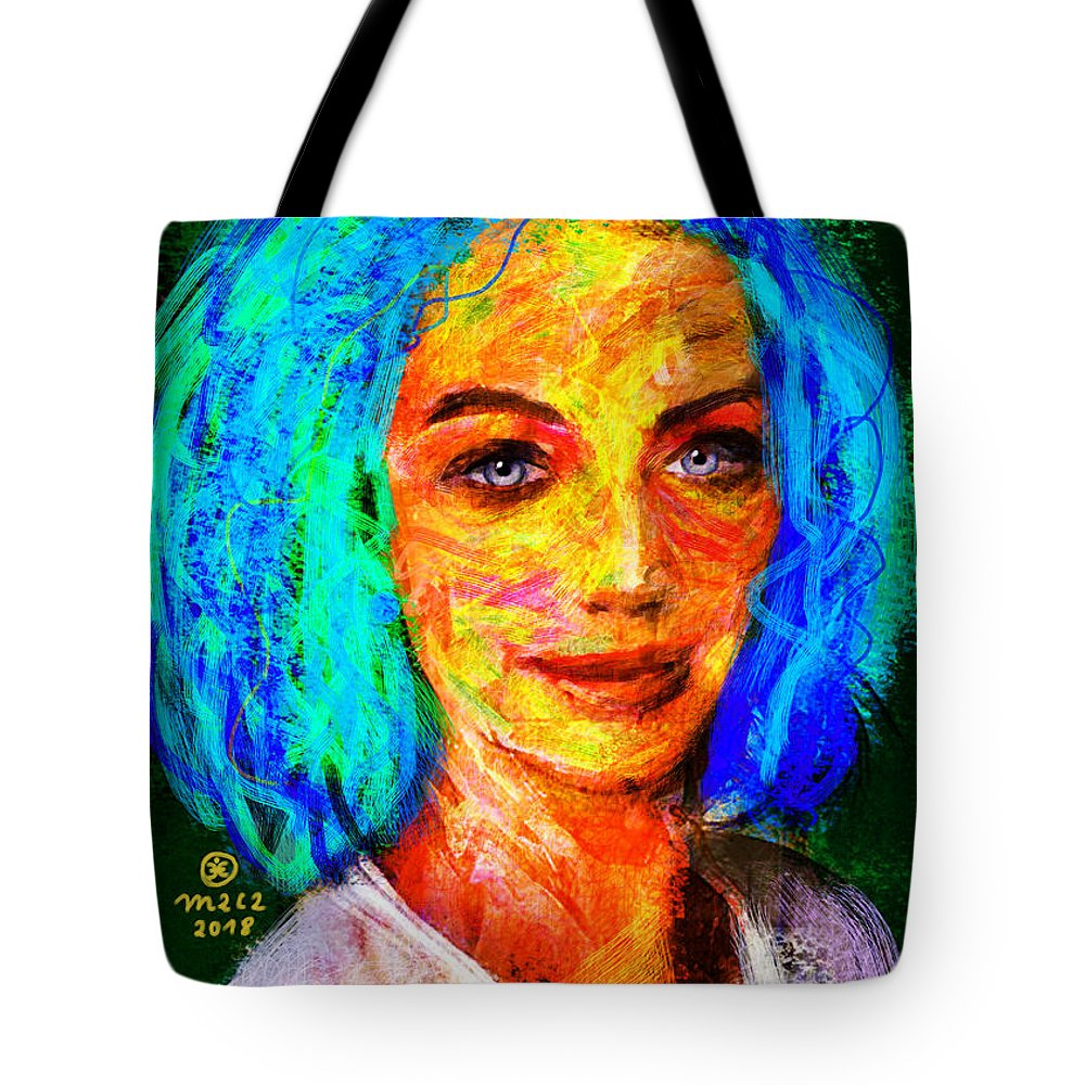 Woman Tote Bag featuring the painting Santia True Colors 673 by Maciej Mackiewicz