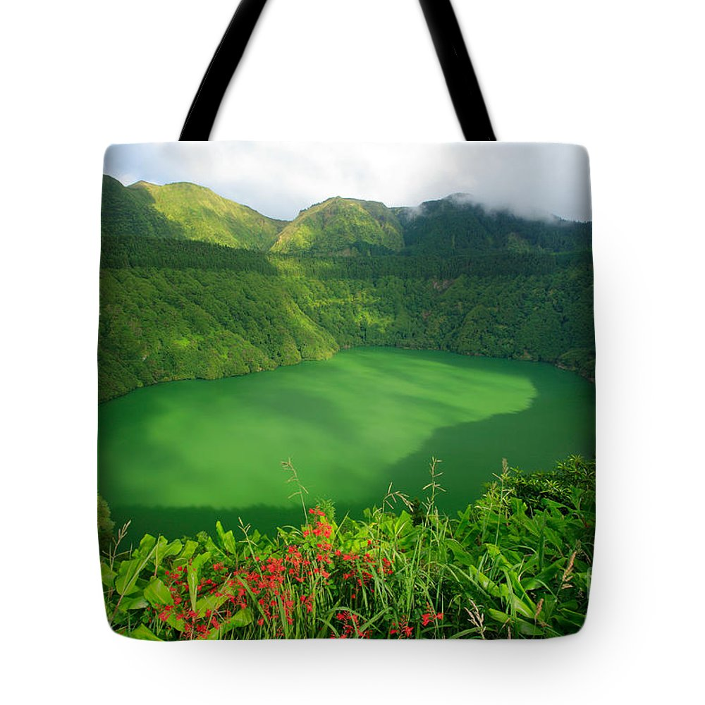 Azores Tote Bag featuring the photograph Santiago Lake by Gaspar Avila