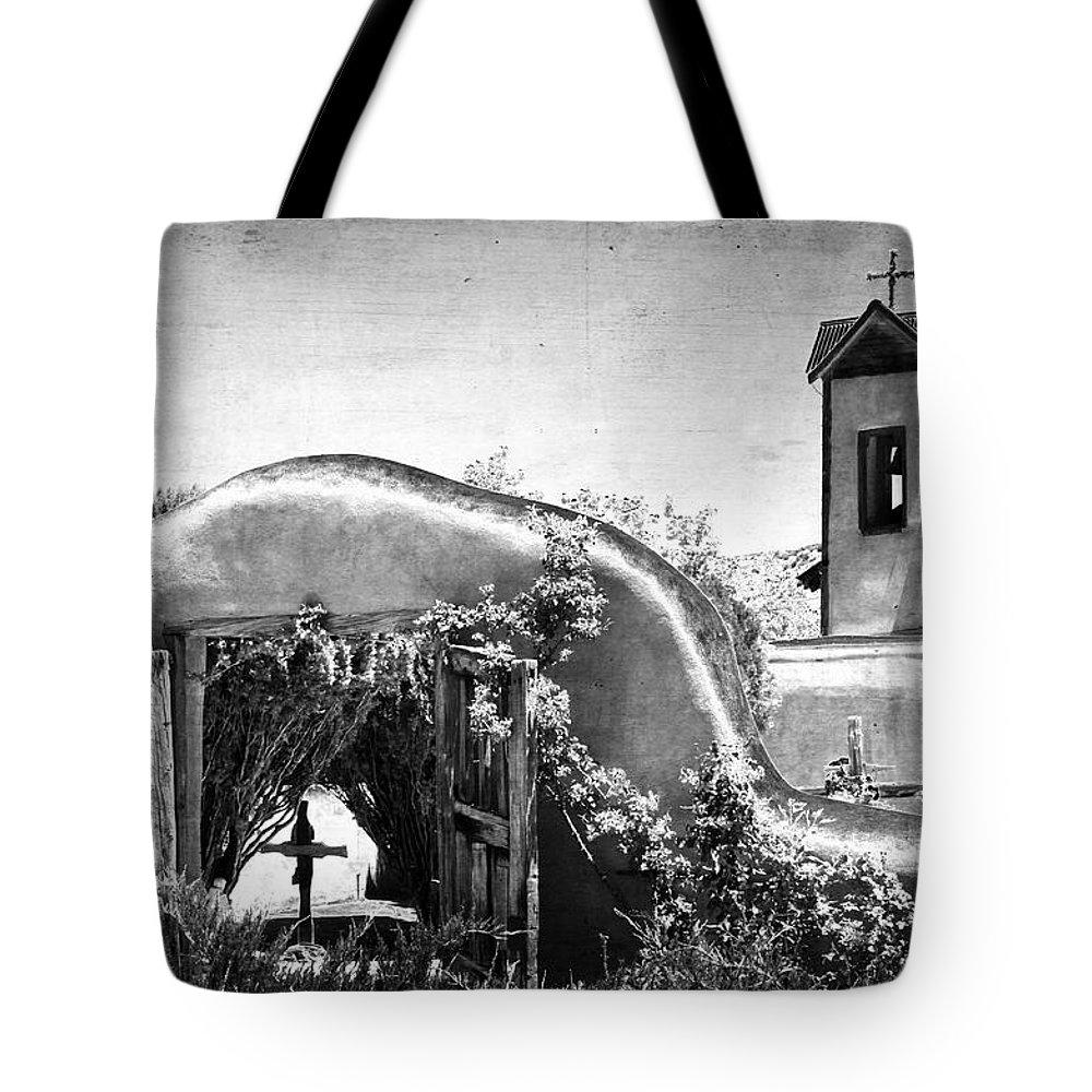 Churches Tote Bag featuring the photograph Santuario De Chimayo by Jill Smith