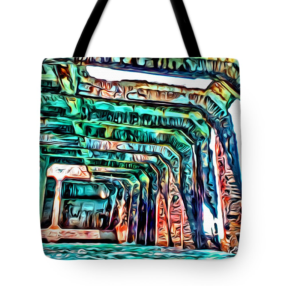 Sapona Tote Bag featuring the digital art Sapona by Anthony C Chen