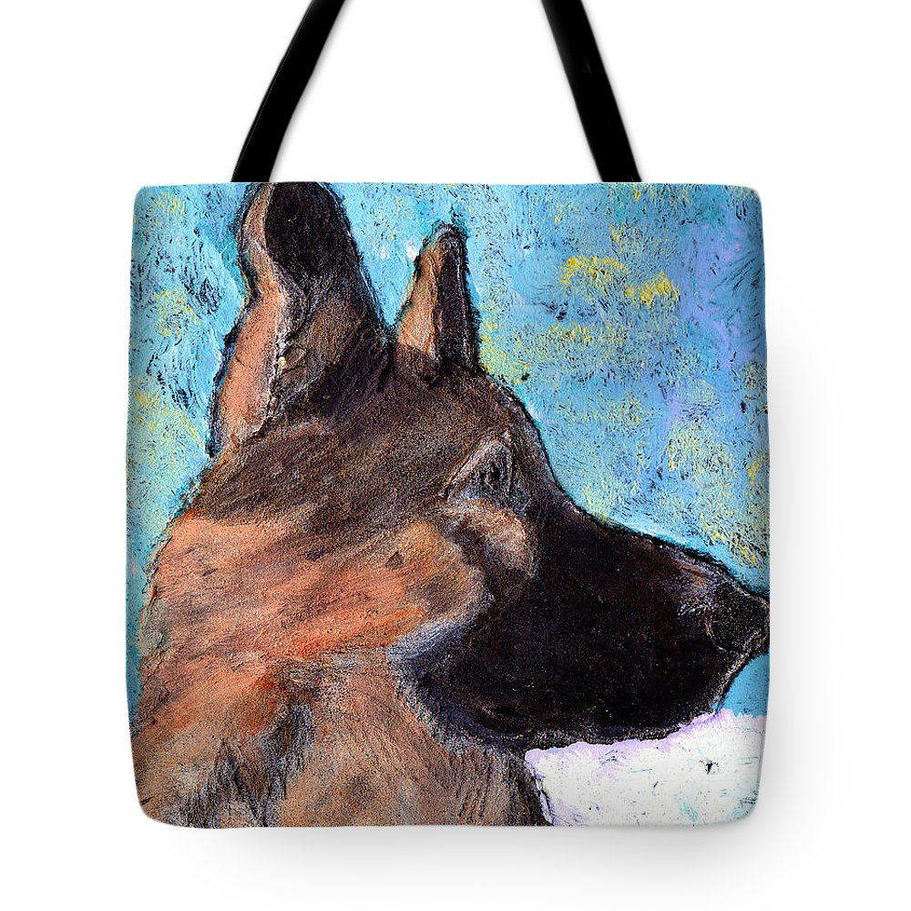Dog Tote Bag featuring the painting Sarge II by Wayne Potrafka