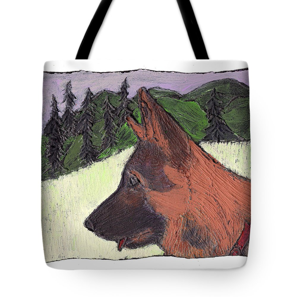 Dog Tote Bag featuring the painting Sarge by Wayne Potrafka