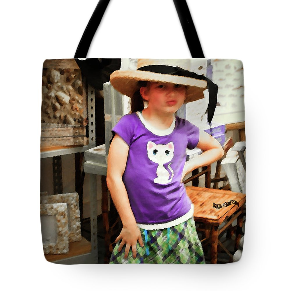 Children Tote Bag featuring the photograph Sass In The Gift Shop by Kim Henderson