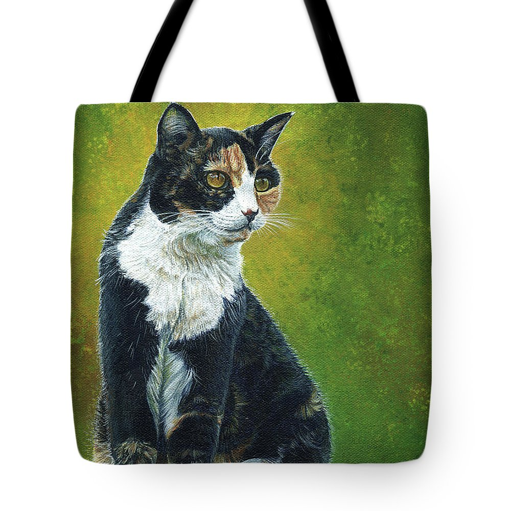 Sassy Tote Bag featuring the painting Sassy by Cara Bevan