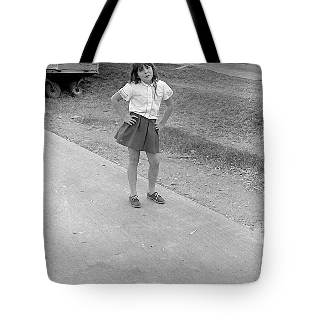 Sassy Tote Bag featuring the photograph Sassy Girl, 1971 by Jeremy Butler
