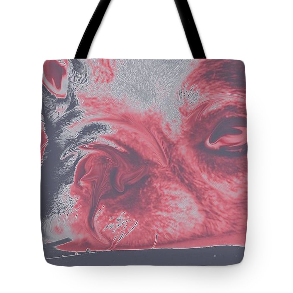 Dog Tote Bag featuring the photograph Sassy Red Dog by Amber Stubbs