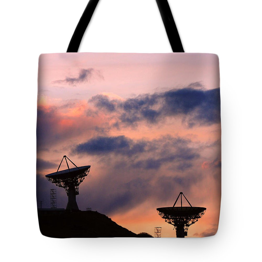 Antenna Tote Bag featuring the photograph Satellite Sunset by James BO Insogna