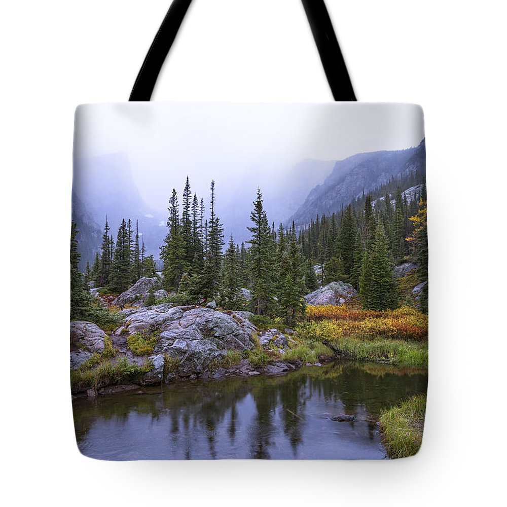 Saturated Forest Tote Bag featuring the photograph Saturated Forest by Chad Dutson