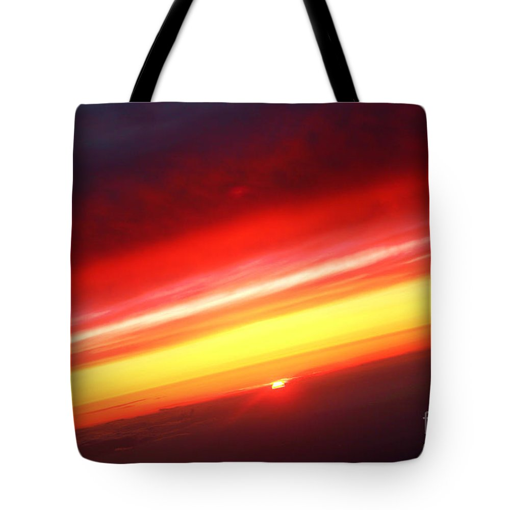 Sunset Tote Bag featuring the photograph Saturn On Earth Sunset by James BO Insogna