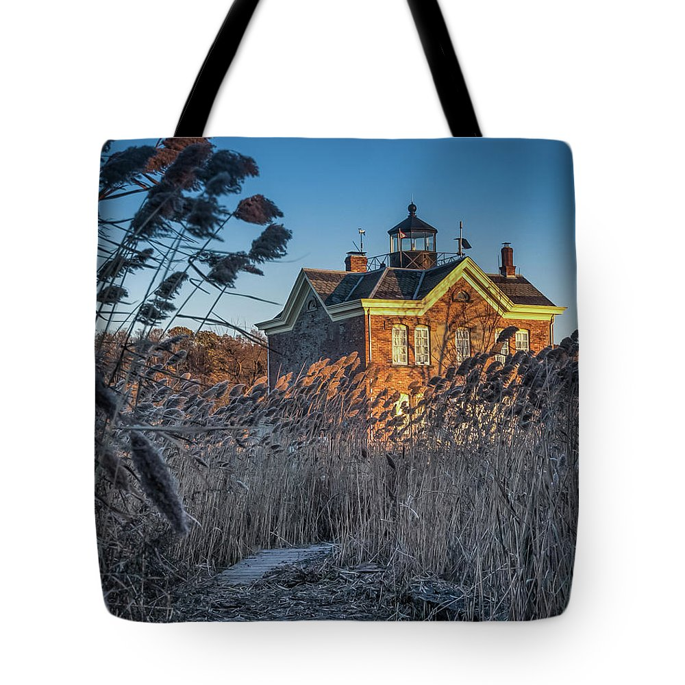 Jeffrey Friedkin Photography Tote Bag featuring the photograph Saugerties Lighthouse by Jeffrey Friedkin