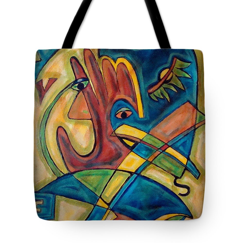 Christian Tote Bag featuring the painting Save by W Todd Durrance