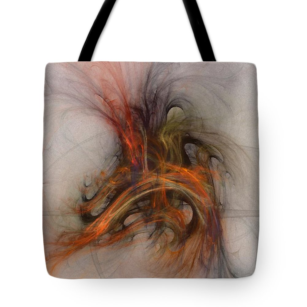 Saving Tote Bag featuring the digital art Saving Omega - Fractal Art by NirvanaBlues