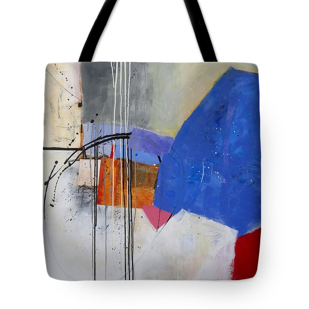 Abstract Art Tote Bag featuring the painting Scaled Up 1 by Jane Davies