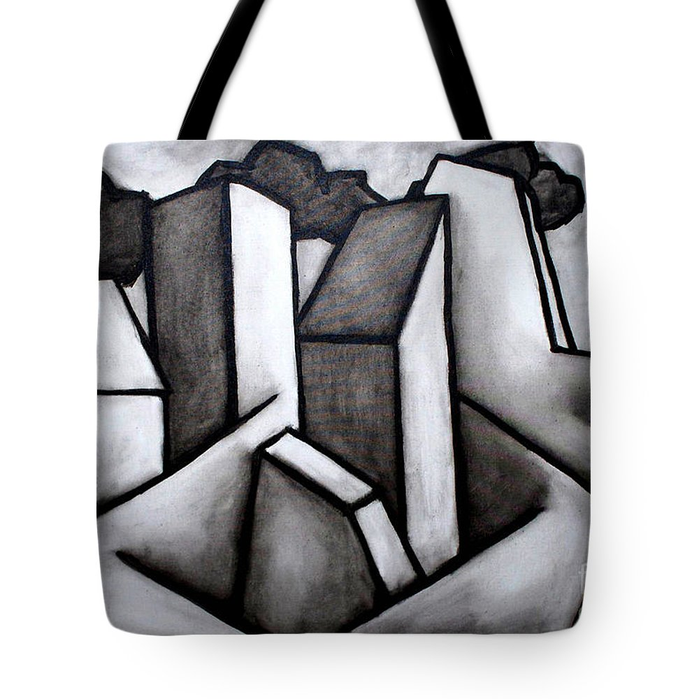 Absract Tote Bag featuring the painting Scape by Thomas Valentine