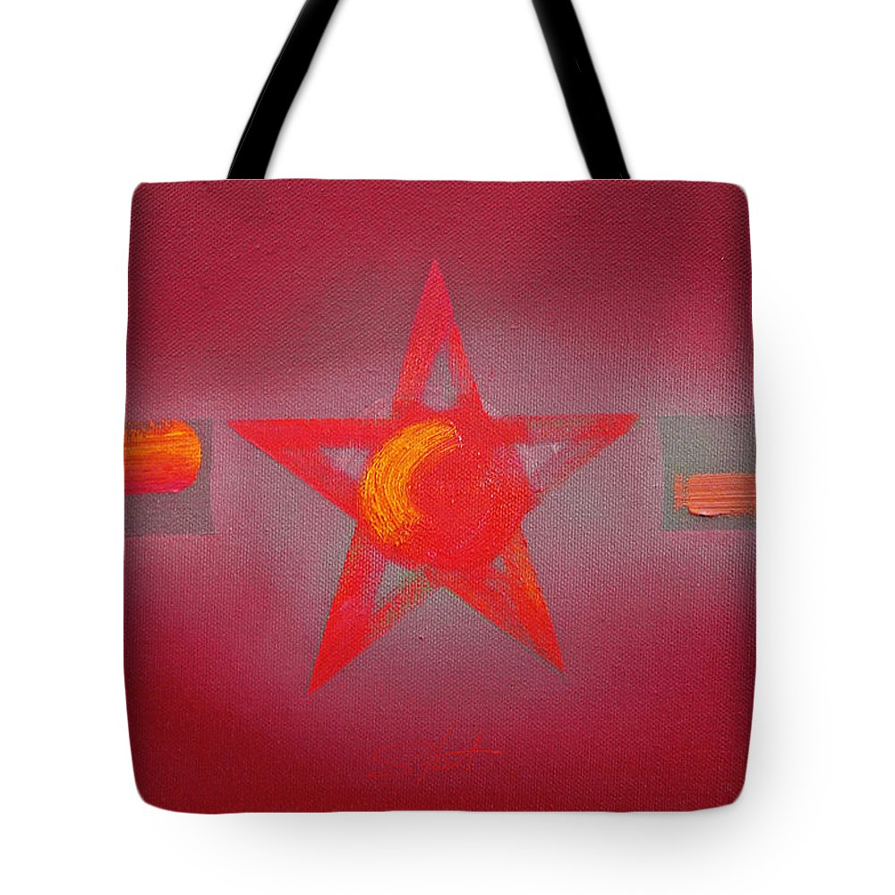 Usaaf Tote Bag featuring the painting Scarlet Vermillion by Charles Stuart