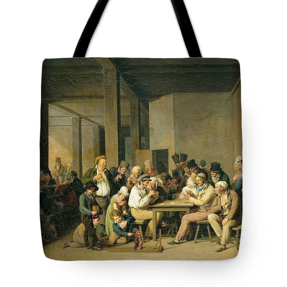 Louis-léopold Boilly - Scene De Cabaret Tote Bag featuring the painting Scene De Cabaret by MotionAge Designs