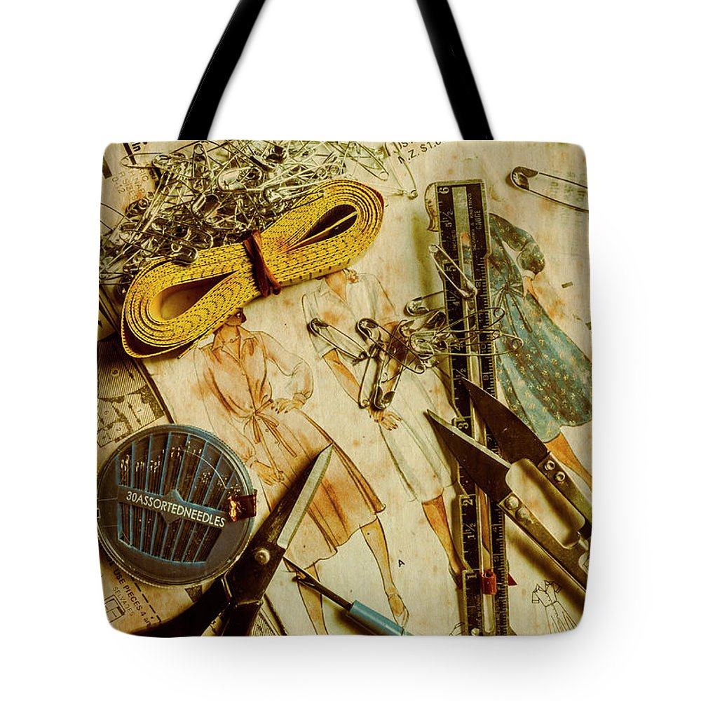 Dress Tote Bag featuring the photograph Scene From A Fifties Craft Room by Jorgo Photography - Wall Art Gallery