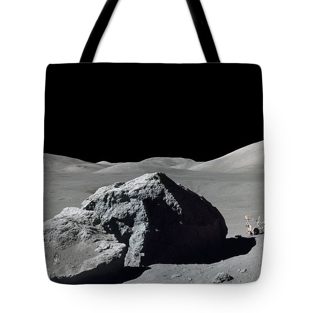 Adults Only Tote Bag featuring the photograph Scene From Apollo 17 Extravehicular by Stocktrek Images
