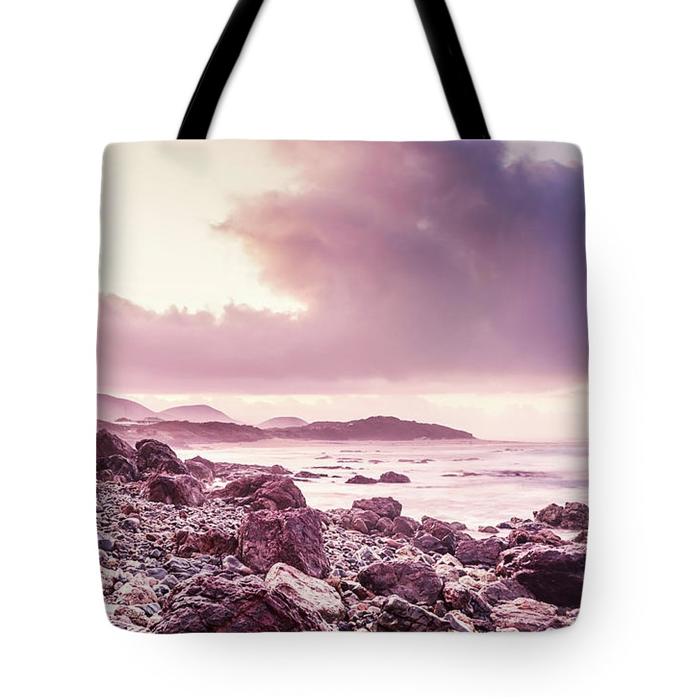 Dawn Tote Bag featuring the photograph Scenic Seaside Sunrise by Jorgo Photography - Wall Art Gallery