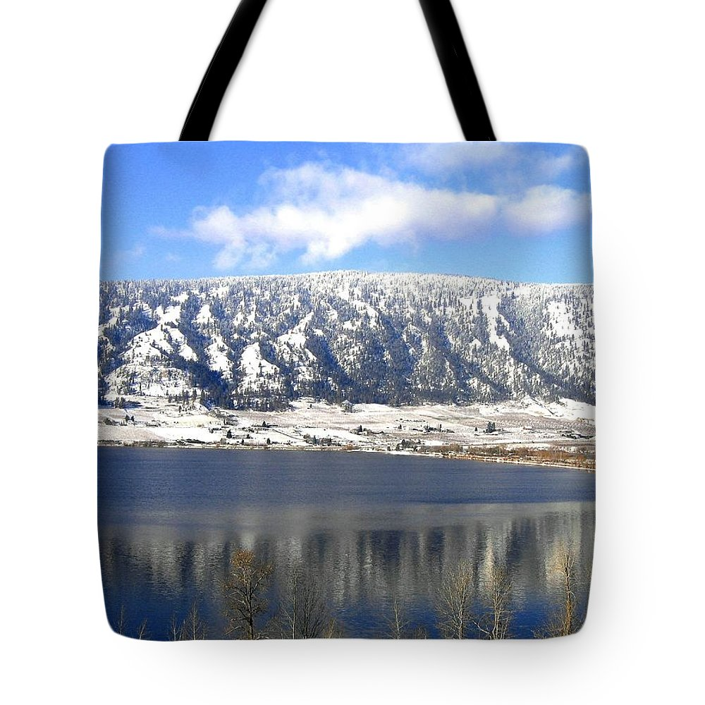 Wood Lake Tote Bag featuring the photograph Scenic Wood Lake by Will Borden