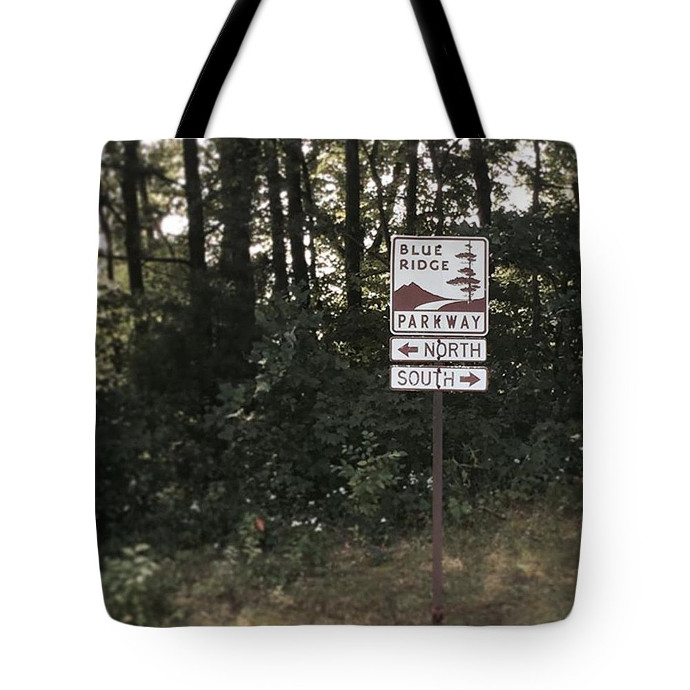 Mountainliving Tote Bag featuring the photograph You Can Go Your Own Way by Carlyn Kelley