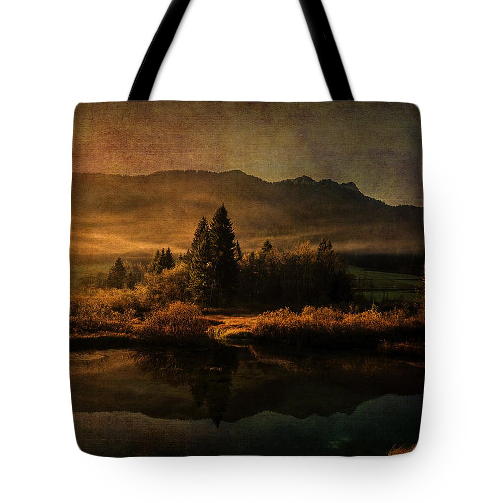 Digital Art Tote Bag featuring the digital art Scent Of Pines by Sarah Vernon